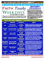 Faith and Family Weekdays 2017-2018 Ministries Guide