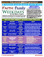 Faith and Family Weekdays 2018 Spring and Lent Guide