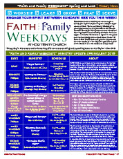 Faith and Family Weekdays 2019 Spring and Lent Guide