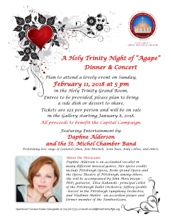Holy Trinity Night of Agape Dinner and Concert