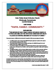 Holy Trinity Mission Statement Presentation and History