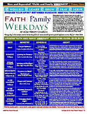 Faith and Family Weekdays 2018-2019 Ministries Guide